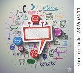 advertising collage with icons... | Shutterstock .eps vector #232656511