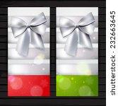 two vertical winter banners ...   Shutterstock .eps vector #232663645