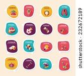 sport speech bubble flat banner ... | Shutterstock .eps vector #232672189