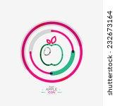 apple logo concept  stamp ...   Shutterstock . vector #232673164