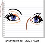 illustration of eyes picture... | Shutterstock . vector #23267605