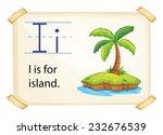 poster of an alphabet i | Shutterstock .eps vector #232676539