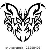abstract tribal representation... | Shutterstock . vector #23268403