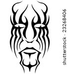 abstracted face in tribal style. | Shutterstock . vector #23268406