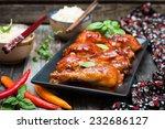 chicken drumsticks in a sweet... | Shutterstock . vector #232686127