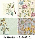 vector floral background.... | Shutterstock .eps vector #232687261