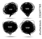 set of scribble black bubbles ...   Shutterstock .eps vector #232697785