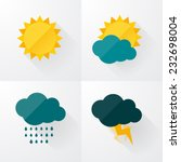 weather icons with long shadows | Shutterstock .eps vector #232698004