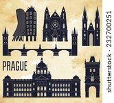 Prague. Vector Illustration