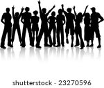 crowd of people | Shutterstock .eps vector #23270596