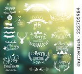 christmas decoration collection ... | Shutterstock .eps vector #232705984