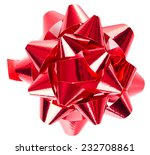 red bow isolated on white... | Shutterstock . vector #232708861