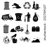 garbage icons set | Shutterstock .eps vector #232709107