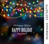 christmas lights background.... | Shutterstock .eps vector #232710775