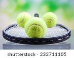 a set of tennis. racket and... | Shutterstock . vector #232711105