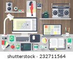 flat design vector illustration ... | Shutterstock .eps vector #232711564
