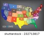 united states of america.... | Shutterstock .eps vector #232713817
