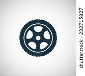 car wheel icon on white... | Shutterstock .eps vector #232715827