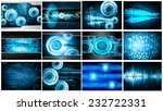 Collection Blue Light Abstract...