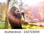 professional woman photographer ... | Shutterstock . vector #232723045