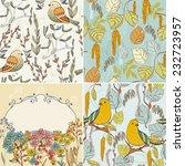vector floral background.... | Shutterstock .eps vector #232723957