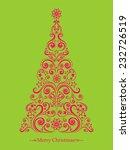 christmas card. christmas tree. ... | Shutterstock .eps vector #232726519