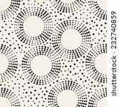 seamless pattern with dotted... | Shutterstock .eps vector #232740859