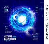 futuristic interface  hud  ... | Shutterstock .eps vector #232746019
