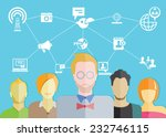 social network concept and... | Shutterstock .eps vector #232746115