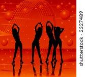 women dancing on stage  golden... | Shutterstock . vector #2327489