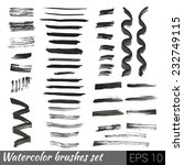 vector set of different grunge... | Shutterstock .eps vector #232749115