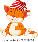 Stock vector cartoon cat sleeping 232750051