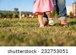 adorable baby girl learning to... | Shutterstock . vector #232753051