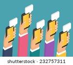 mobile instant messenger chat ... | Shutterstock .eps vector #232757311
