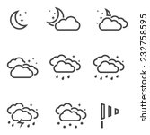 weather at night icons set... | Shutterstock .eps vector #232758595
