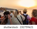 large group of tourist watching ... | Shutterstock . vector #232759621