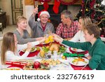 extended family toasting at... | Shutterstock . vector #232767619