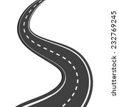 winding asphalt road with... | Shutterstock .eps vector #232769245