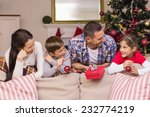 smiling family leaning on the... | Shutterstock . vector #232774219