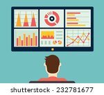 analysis of information on the... | Shutterstock .eps vector #232781677