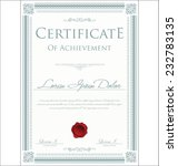 certificate template | Shutterstock .eps vector #232783135