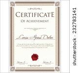 certificate template | Shutterstock .eps vector #232783141