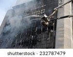 firefighters tackle a blaze in... | Shutterstock . vector #232787479