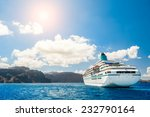 Big Cruise Liners Near The...