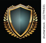 golden shield | Shutterstock .eps vector #232794331