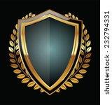 golden shield | Shutterstock .eps vector #232794331