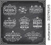 vector christmas chalkboard... | Shutterstock .eps vector #232795195
