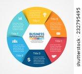 vector circle infographic....   Shutterstock .eps vector #232795495