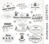 christmas isolated collection... | Shutterstock .eps vector #232795771