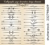 super collection. calligraphic... | Shutterstock .eps vector #232798609